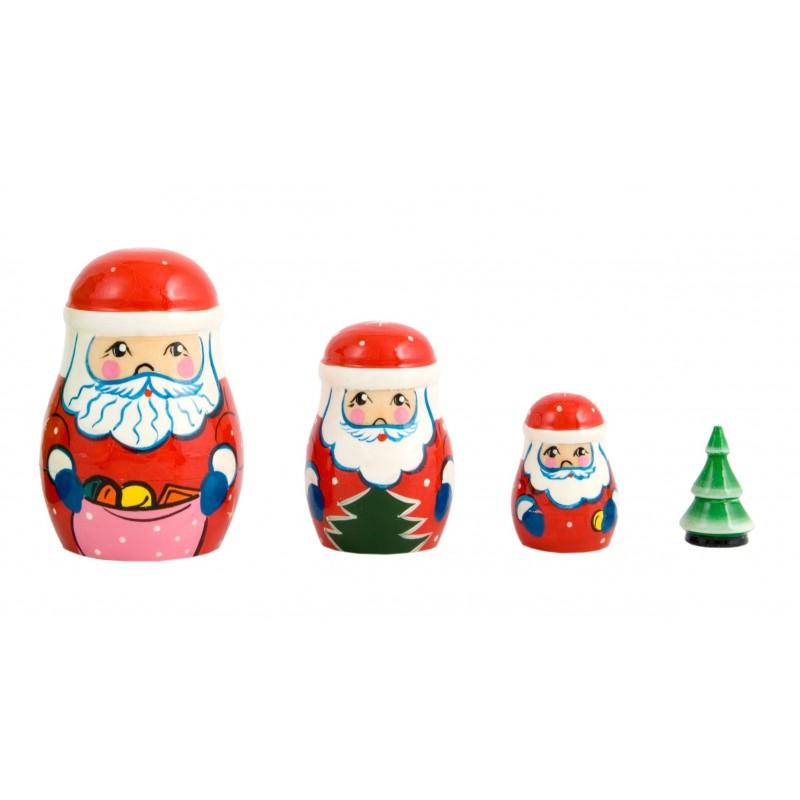 Julemandsbabushka, sæt med fire