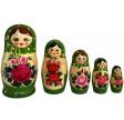Grøn Babushka dukke