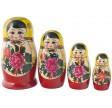 Traditionel Babushka dukke, sæt med fire dukker