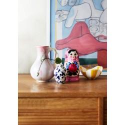Lyserød Babushka dukke