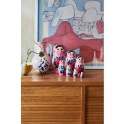 Lyserød Babushka dukke, sæt med 7