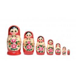 Rød Babushka dukke